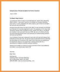 Reference Coworker Letter Template For A Friend Mcari Co
