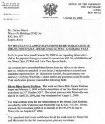 Mpiani S Letter On Waterville S Claim For Payment Ignored By Betty