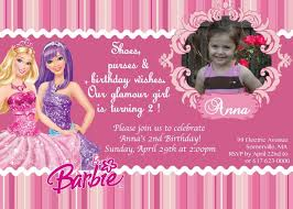 barbie birthday invitation card inspirational barbie birthday invitations templates choice image invitation of barbie birthday invitation