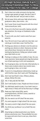 we never go out of style online college school 20 high school habits incoming freshman have to stop doing number 11 is a must