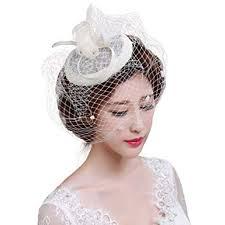 Voile Mariage Femme Coiffure Vintage Pour Femme Bibi Avec Voilette Mini Béret Chapeau Melon élégant Voile De Cérémonie Kit De Déguisment Soirée Voile