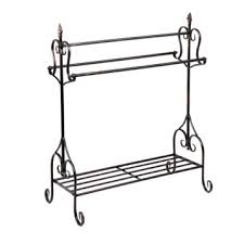 Metal Dark Bronze Reagan Quilt Rack | Kirklands &  Adamdwight.com