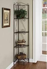 Wicker Corner Shelves Amazon 100D Concepts 100Tier Corner Bookcase Wicker Metal 75