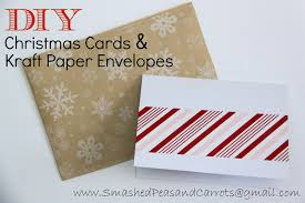 Diy Christmas Cards Diy Christmas Cards And Kraft Paper Envelopes Tutorial Smashed