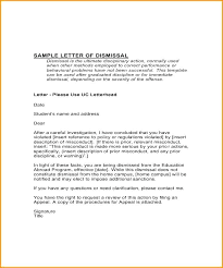 Sample Dismissal Letter Dismissal Letter Template Disciplinary Appeal Outcome