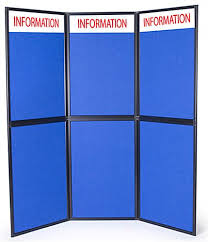 Free Standing Display Board Display Panels For Trade Show Hook Loop Receptive Fabric 77
