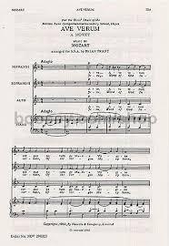 ave verum corpus sheet music wolfgang amadeus mozart ave verum ssa