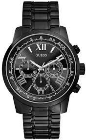 black guess chronograph watch u0379g2 men s black guess chronograph watch u0379g2