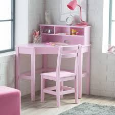 Classic Playtime Juvenile Corner Desk and Reversible Hutch with Chair -  Pink | Hayneedle