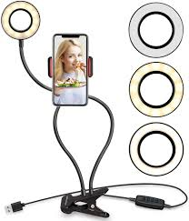 Ring Light For Phone Amazon Ubeesize Selfie Ring Light With Cell Phone Holder Stand For Live Stream Makeup Led Camera Lighting 3 Light Mode 10 Level Brightness With Flexible