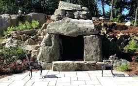 outdoor stone fireplace. Outdoor Stone Fireplace Designs Large Rustic Fire Feature Stacked A
