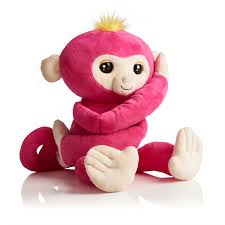 fingerlings hugs bella pink interactive plush monkey by wowwee
