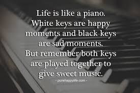 Life Quotescom New Life Quote Like Is Like A Piano White Keys Are Happy Moments