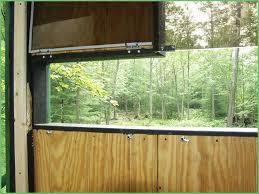 how to make deer blind windows comfy plexiglass windows for deer stands best deer
