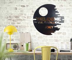 3d wall sign star wood