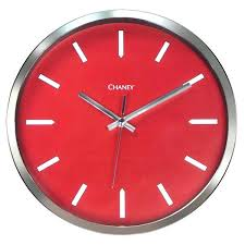 chaney wall clock red clock with chrome frame chaney 24 inch wall clock chaney wall clock chaney wall clock