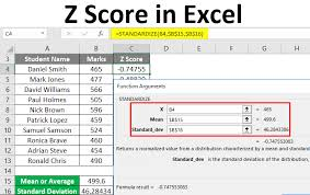 Z Score In Excel Examples How To Calculate Excel Z Score