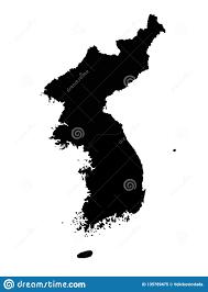 North And South Korea - Asian Countries In Korean Peninsula Stock Vector -  Illustration of pyongyang, vector: 135789475
