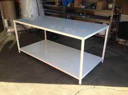metal industrial furniture. Steel Workbench Assembly Workstations. Custom Made Street Furniture / Industrial Metal