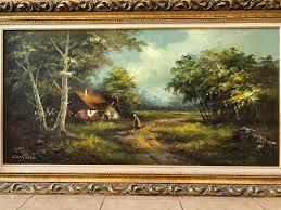 Framed phillip cantrell landscape
