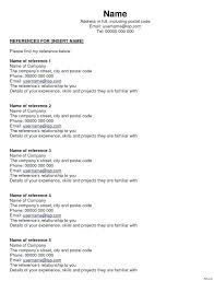 Reference Sheet Template Resume References Page Professional Word ...