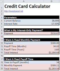 Calculator Credit Card Payment Credit Card Math