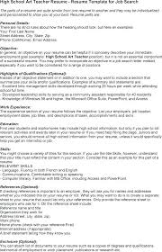 Resume Sample High School High School Teacher Resume Samples Best