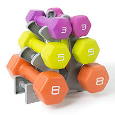 Weights Measures Chart Tone Fitness Neoprene Dumbbell Set With Rack 32 Pounds Of Weights