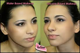 water based vs silicone based airbrush makeup applied on our student melania