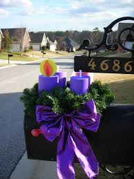 Advent Wreath Decorations A Lovely Easy Advent Wreath For Your Mailbox Catholicmomcom