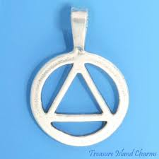 details about aa symbol alcoholics anonymous sobriety 925 sterling silver pendant alcoholism