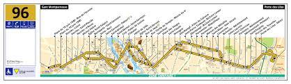 Plan Bus 96 Paris Ratp