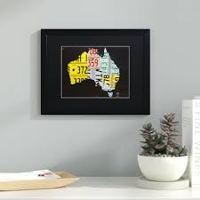 laude run australia license plate map by design turnpike framed graphic art wayfair