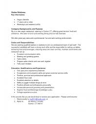 Waiter Job Description Resume Bunch Ideas Of Waitress Job Resume Examples Description Image 36