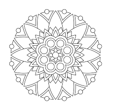 coloring pages easy mandala 15r free for children