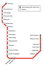north shore, northern & western line wikipedia Northern Train Line Map diagram of the northern line prior to the opening of the epping to chatswood railway line in 2009 northern train line map