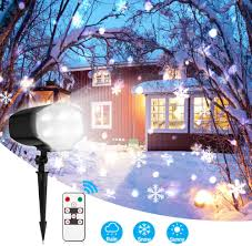 Snowfall Lights Amazon Christmas Projector Lights Outdoor White Snowflake Led Snowfall Lights Waterproof Rotating Snow Landscape Projector Lamp With Remote Control For Xmas