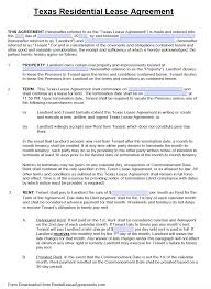 Free Texas Standard Residential Lease Agreement Template Pdf Word