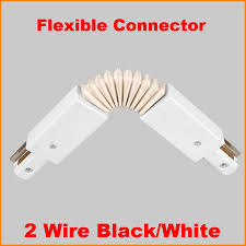 Track lighting fitting Light Fixtures Wire Led Track Light Rail Connector Track Lamp Fitting Flexible Track Rail Connector Aluminum Track Accessories Black White Nationonthetakecom Wire Led Track Light Rail Connector Track Lamp Fitting Flexible
