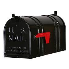 Postal Pro Post Mount Double Door Steel Mailbox Black PP152DBL