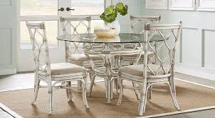 cindy crawford home screst white 54 in 5 pc round dining set with light wood room sets inspirations 6