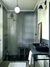 galvanized shower stall corrugated