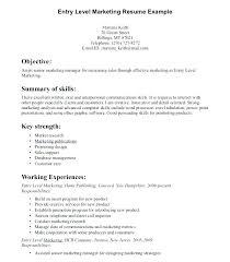 good marketing resumes entry level marketing resume sample dew drops