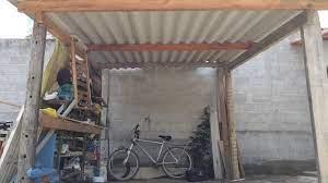 As telhas foram trocadas a 3bmeses Como Fazer Um Telhado De Eternit De Garagem Sem Gastar Muito Youtube