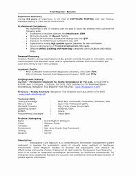 Sample Resume Format For Experienced Software Test Engineer Sample Experience Resume format Best Of Sample Resume format for 1