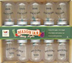 add to my lists clear mason jar string lights