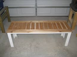 simple outdoor bench with cedar slats