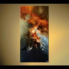 Small Picture Abstract painting vertical home decor painting earth tones 5792