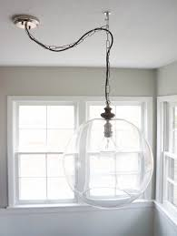 glass bowl sphere chandelier