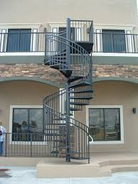 exterior spiral staircase inspire outdoor design intended for 10